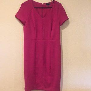 The limited fuchsia dress.